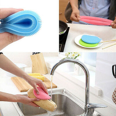 Magic Multifunction Silicone Scrub Sponge Washing Clean Dishes  Kitchen Tool 1pc