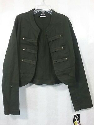 2-hip Girls Blazer Jacket Olive Green Military Size 12/14 -NEW