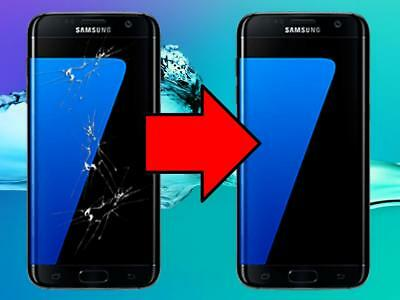 Samsung Galaxy S7 Edge Glass Repair Pressure Bonded Glass Lamination