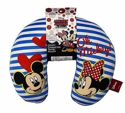 "MICKEY and MINNIE  ""OH MICKEY""  COMFY CHARACTER TRAVEL PILLOW"