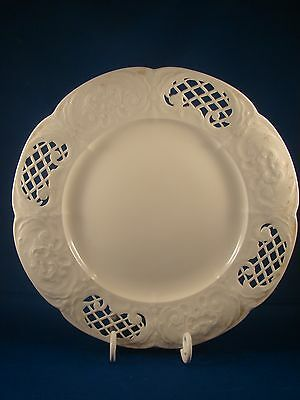 19th c Cream Plate With Reticulation On Edge Plate B