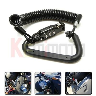 Scooter Combination Motorcycle Quick Release High Secure Helmet Lock with T-Bar