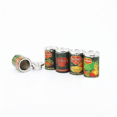 1X Mini Fruit Canned Dollhouse Miniature Food Kitchen Doll Accessories Xmas Gift