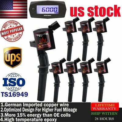 DG508 For Ford 4.6/5.4/6.8L V8 8 High Performance Ignition Coil Pack Spark Plug