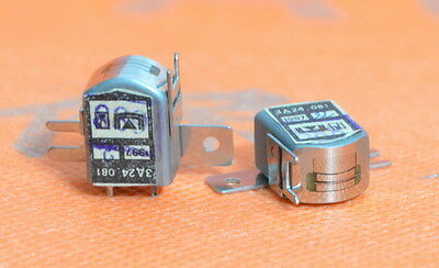 TWO Magnetic heads sendust for tape recorder 3D24 081 CCCP USSR Russian