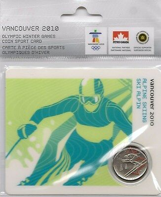 2007 Collectors Alpine Skiing Olympic Error Coin  ***Rare***