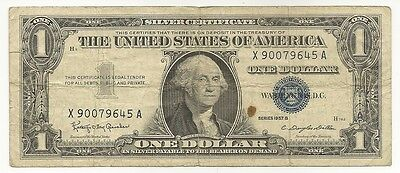 1957 USA Silver Certificate Series B One Dollar Collectable Note