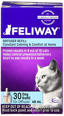 Plug In Diffuser Refill Helps Reduce Cat Behaviors Caused by Stress 48 mL 6 Pack