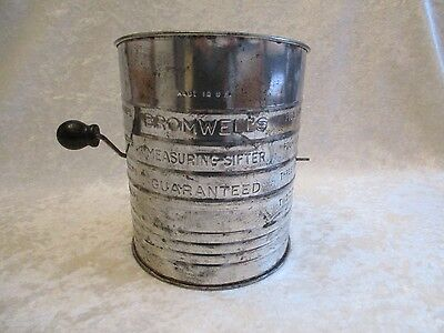 Vintage 5-Cup Bromwell's Measuring Sifter