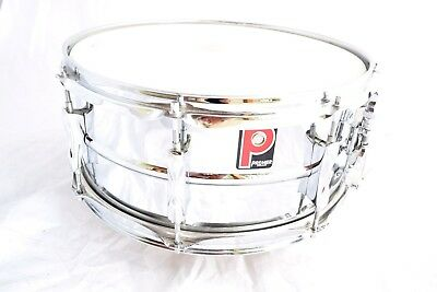 Vintage Premier Metal Snare Drum Chrome 14 x 7 REMO