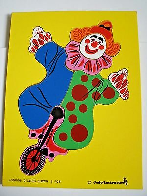 Vintage Judy Instructo Cycling Clown Puzzle