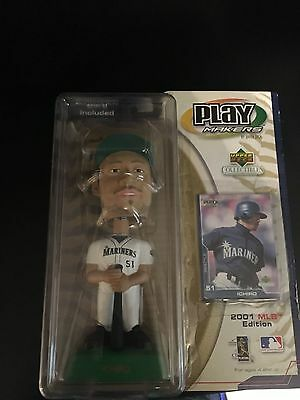 ICHIRO Mariners baseball Upper Deck Play Makers BobbleHead  Seattle Card