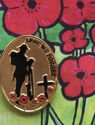 Soldier Lest We Forget  Lapel Pin -  Remembrance Day*