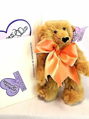 "Annette Funicello Bean Bag Series LE 2500 Clementine 9"" Plush Teddy Bear NEW MIB"
