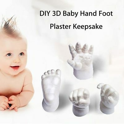3D Baby Hand Foot Print Plaster Casting Kit Handprint Footprint Keepsake Gift