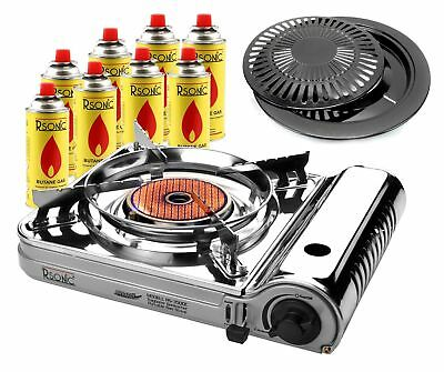 Camping Stove Gas Cooker Portable with Ceramic Head + Grill Plate rs-3500c