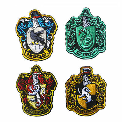 Harry Potter Crest Badge Embroidered Patch Gryffindor Slytheri Ravenclaw Cosplay