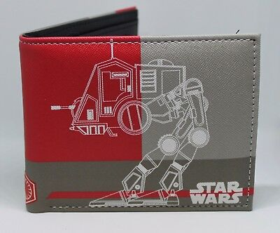 Wallet Star Wars At-Pt With Zipper Bi-Fold Great Item For Kids,teens And Adults