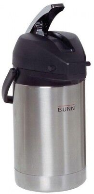 Bunn 2.5 Liter (84 oz.) Thermal Airpot Stainless Steel Lined Coffee Maker Carafe