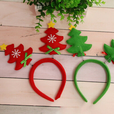 Adult Kids Christmas Headband Xmas Tree Hairband Decoration Gift Green Red Gifts