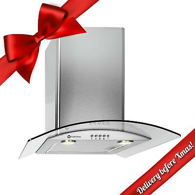 60 Cm Stainless Steel Stove Cooker Hood Oven Extractor Fan Led Lights