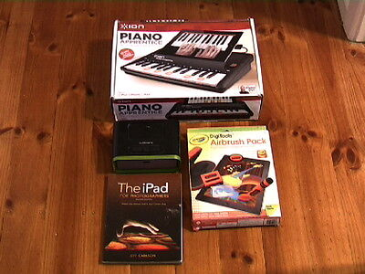 ION Piano Apprentice (boxed) + CRAYOLA DIGITOOLS AIRBRUSH PACK (boxed) + More