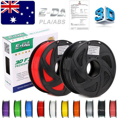 E-DA Premium 3D Printer Filament 1.75mm PLA ABS 1KG Colour 340M 400M Engineer OZ