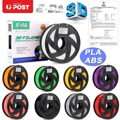 E-DA Premium 3D Printer Filament 1.75mm PLA ABS 1KG Multiple Colours 340M 400M Z