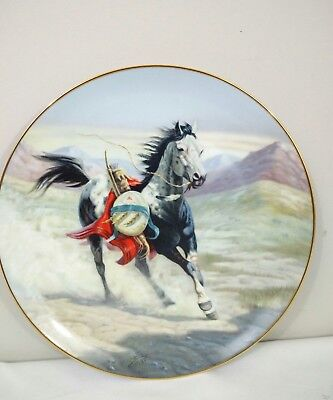 """Perillo Plate """"Sioux War Pony"""" 1st in War Ponies Series Vague Shadows USA  #3052"""