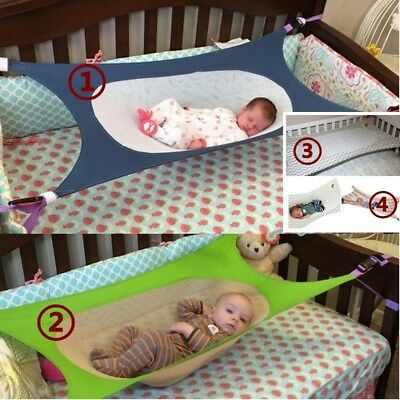 Swing Folding Cot Bed For Newborn Baby Crib Hammock Portable Bed Elastic Storage