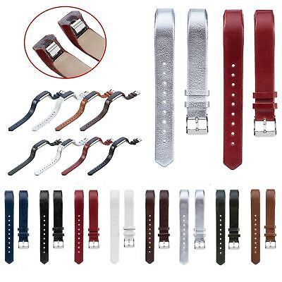 Replacement Genuine Cowhide Leather Watch Band Wrist Strap For Fitbit Alta & HR