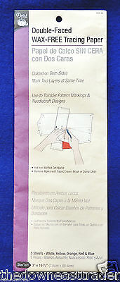 "Double-Faced Wax-Free Tracing Paper Dritz #632-66 3"" x 19-1/2"" 5 Sheets"