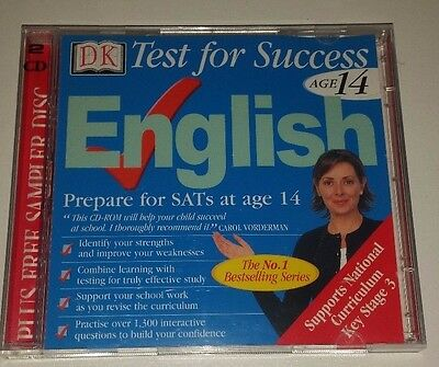DK Test For Success Age 14 English Educational Pc Cd Rom - Prepare For SATs