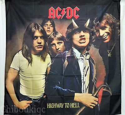 AC/DC Highway to Hell HUGE 4X4 BANNER poster tapestry cd album cover art