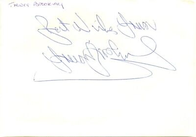 Trevor Brooking signed autograph album page 1980s English footballer West Ham