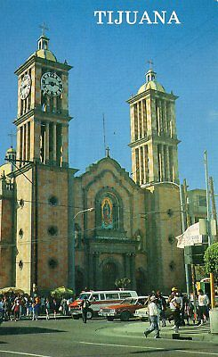 Old Postcard:CATHEDRAL OF TIJUANA , Mexico