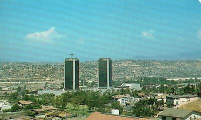 Old Postcard: Agua Caliente Towers,TIJUANA , Mexico