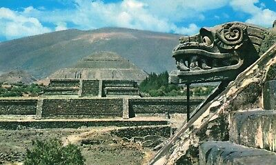 Old Postcard: TEMPLE OF QUETZALCOAT, Mexico