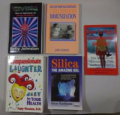Lot: 5 Health and Healing Books Paperback, One Hardcover/DJ
