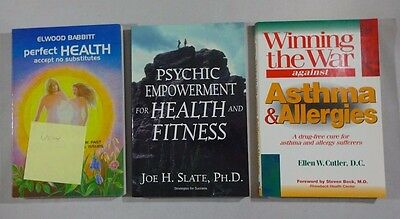 Lot: 3 Health and Healing Books Paperback