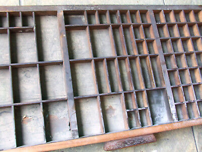 Letterpress Printing VERY OLD WOODEN TYPECASE with wooden handle with torn paper