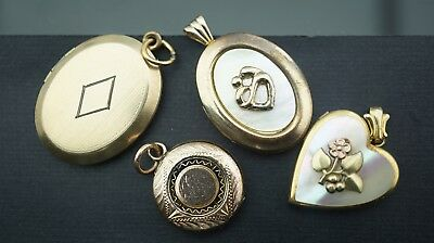 lot of Antique/Vintages gold filled& mother of pear picture locket