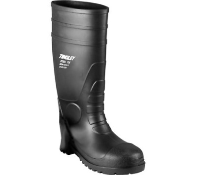 TINGLEY RUBBER Steel-Toe Boots, Black PVC, 15-In., Mens Size 12