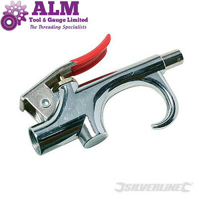 "Silverline Air Blow Gun 140mm & 230mm Long Reach , G1/4"" Port"