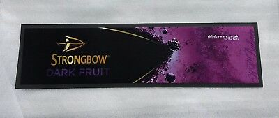NEW - Strongbow Dark Fruit Cider Bar Runner  Fabric and Rubber -  Home Bar - Pub