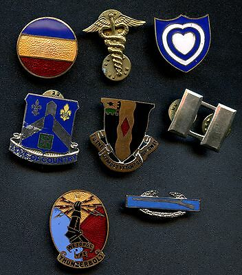 Collection Of 8 Military Service Type Pins