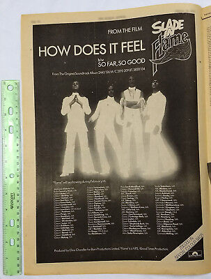 SLADE full page print ad How Does It Feel 1975 vintage