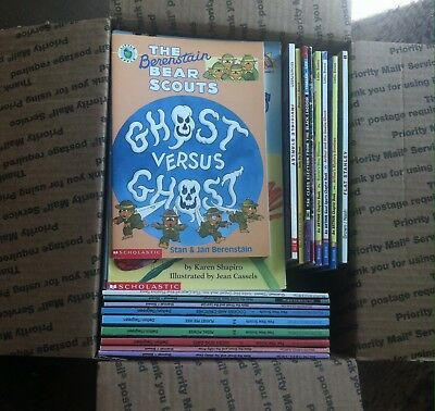 Lot 38 Easy Readers + 18 Chapter Books- Nate the Great, Flat Stanley, Pee Wee Sc