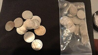 """One Liberty Head or """"V"""" (1883-1913) Nickel Good or Better!!!"""