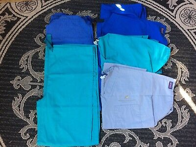 Lot of 7 Cherokee Scrubs pants and tops size small NICE!
